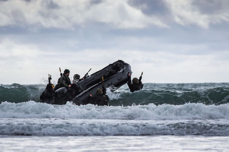 Royal Marines take part in Exercise Commando Warrior. Credit: LPhot Paul Hall, Crown Copyright
