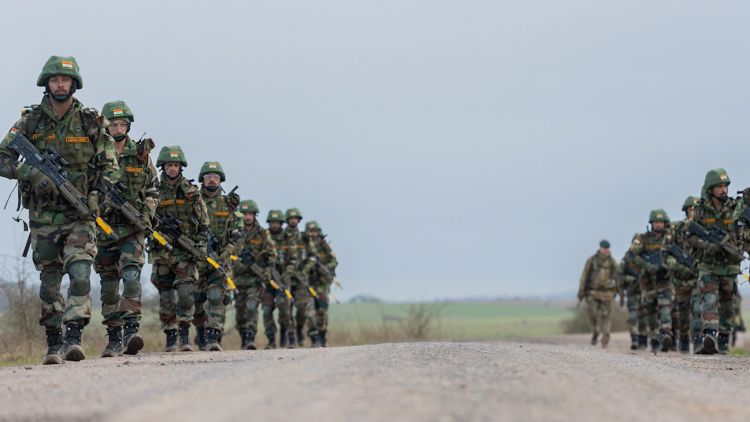 Indian soldiers march on Salisbury Plain (Picture: British Army).