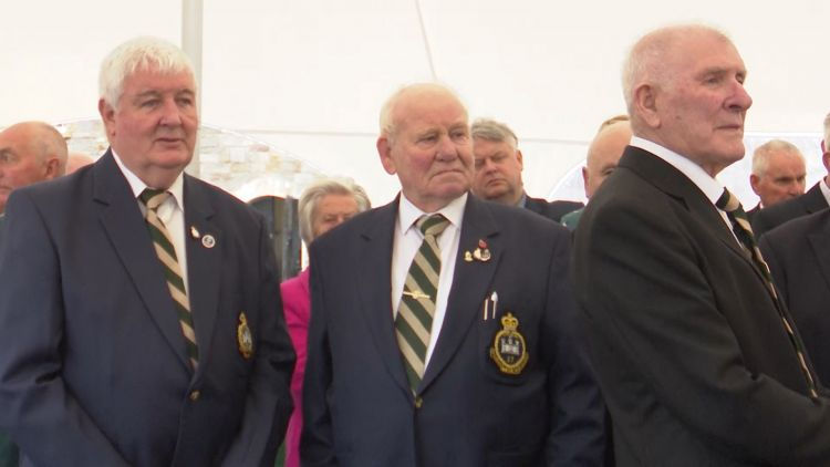 Many of the veterans who served in the Inniskillings came back to attend the celebration.