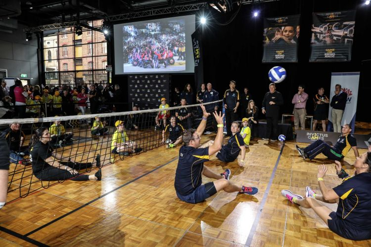Invictus Games Sydney Sitting Volley Ball