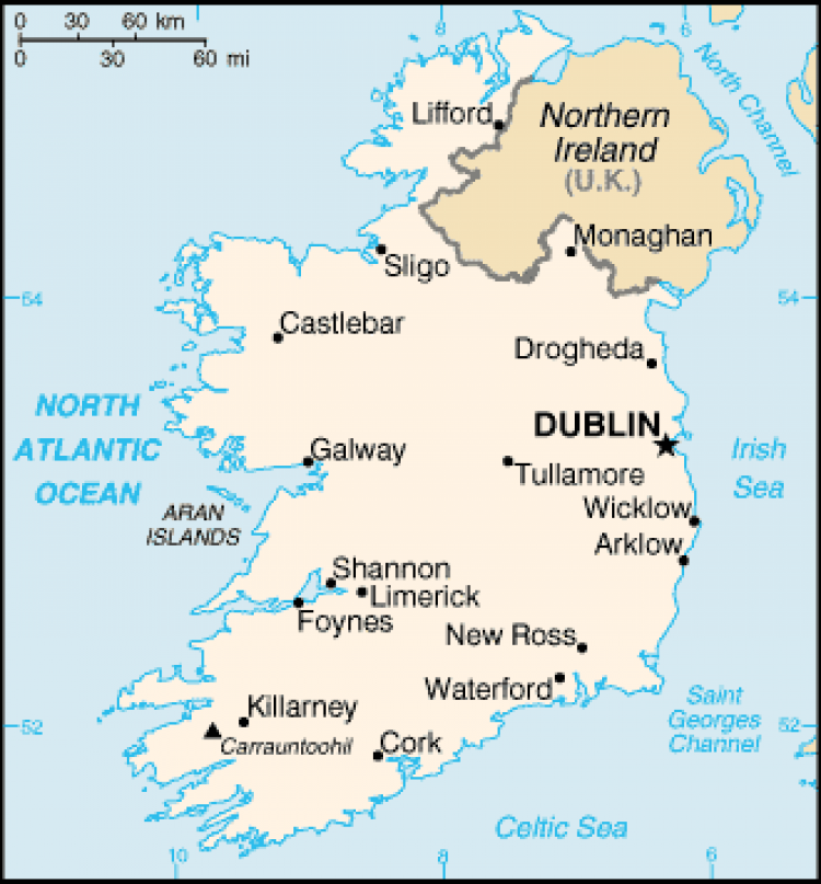 a travelers guide on the characteristics of the republic of ireland a country in the north west of e Ireland rail passes and train tips (the train fares shown here for the republic of ireland roughly match what you'd pay if single-country ireland.