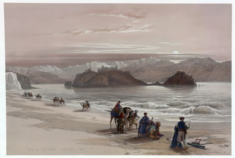 Isle of Graia Gulf of Akabah Arabia Petraea by David Roberts image Library of Congress
