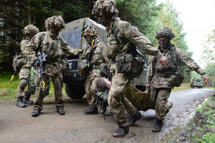 Patrols will have to complete casualty extraction scenarios during the event. Credit: Crown Copyright
