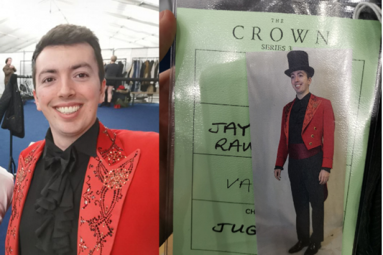 CSE Jay Rawlings backstage on the Crown