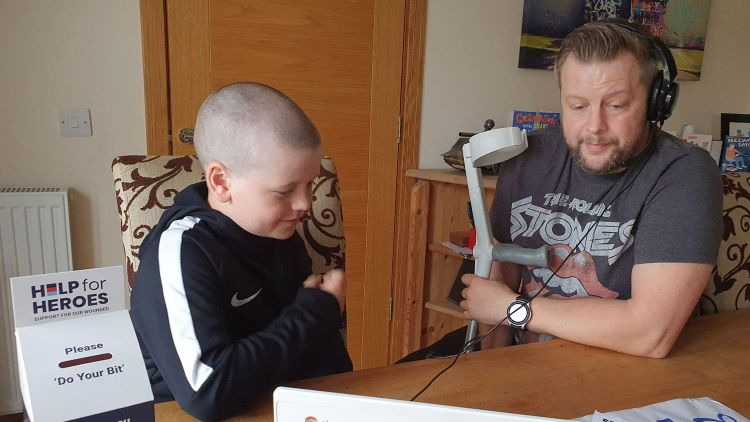 Jay and Colour Serjeant Jack Horner Charity Haircut Help For Heroes