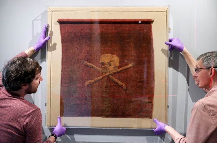 Jolly Roger pirate flag once belonging to Admiral Richard Curry