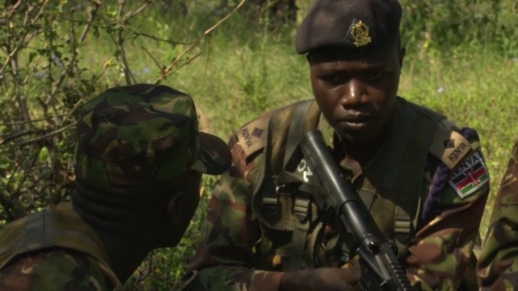 Kenyan soldiers during BPST training in November 2019 used on 050320 CREDIT BFBS.jpg