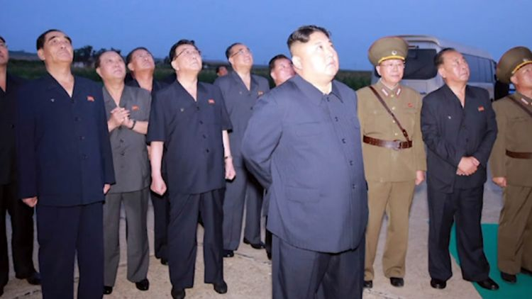 Kim Jong Un watches North Korea Missile Launches Aug 2019 CREDIT KCNA.jpg