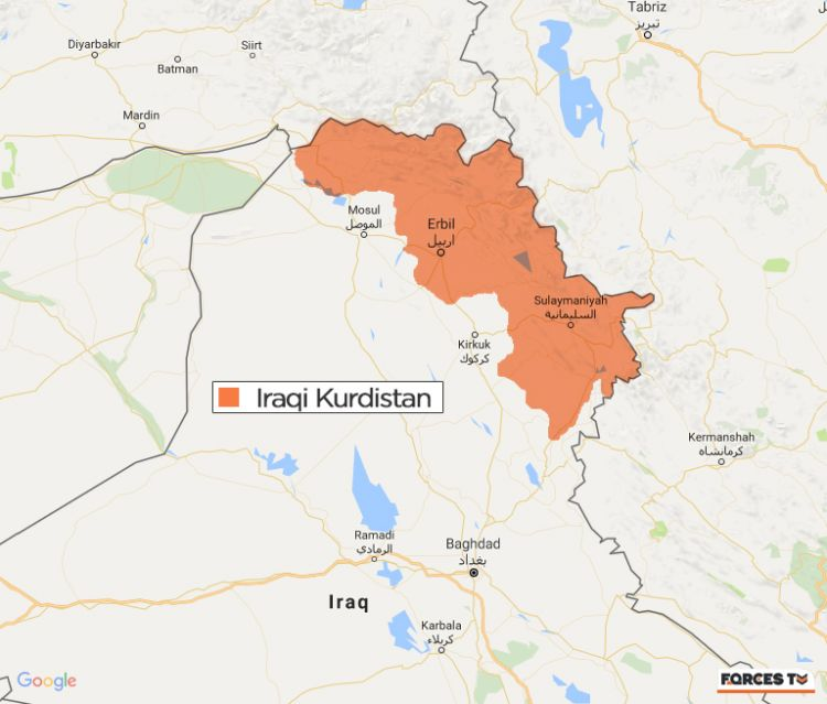 Iraqi kurdistan referendum who are the kurds map of iraqi kurdistan sciox Image collections