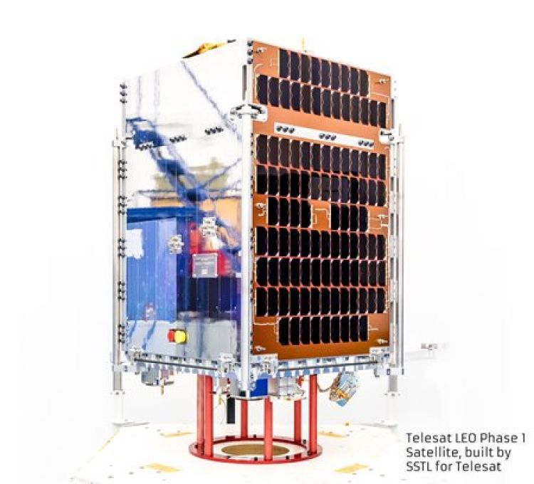 Telesat LEO Phase 1 satellite. Credit SSTL/Kathryn Graham