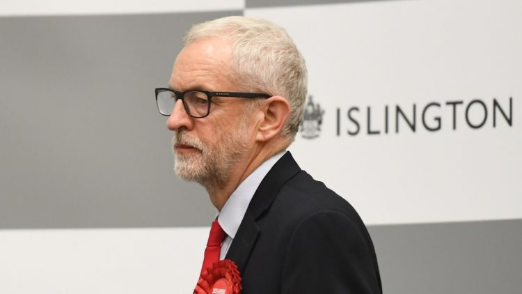 Labour leader Jeremy Corbyn waits for the result to be given at Sobell Leisure Centre for the Islington North constituency for the 2019 General Election 131219 CREDIT PA.jpg.jpg