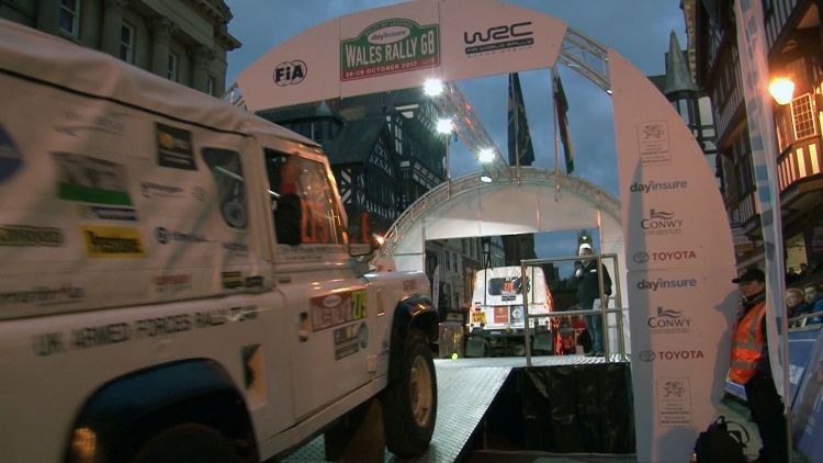 Armed Forces Rally Team at Wales Rally GB