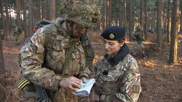 Lt Col Lucy Giles is enjoying being back where she first trained as a young officer
