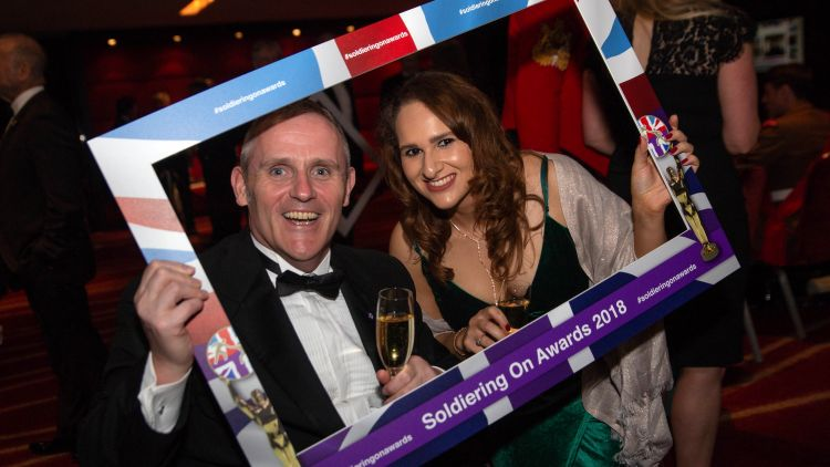 Luke Delahunty Sabrina Price Soldiering On Awards 2018 Credit: Schmooly