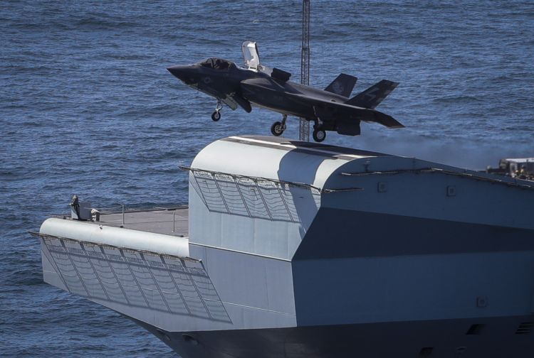 F-35B takes off from HMS Queen Elizabeth during flight trials last year (Picture: MOD).