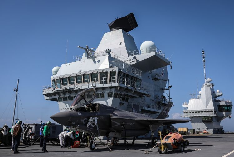 F-35B first landing on HMS Queen Elizabeth