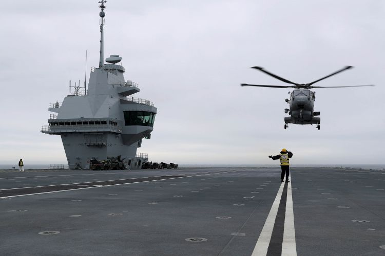 Merlin Helicopter HMS Queen Elizabeth