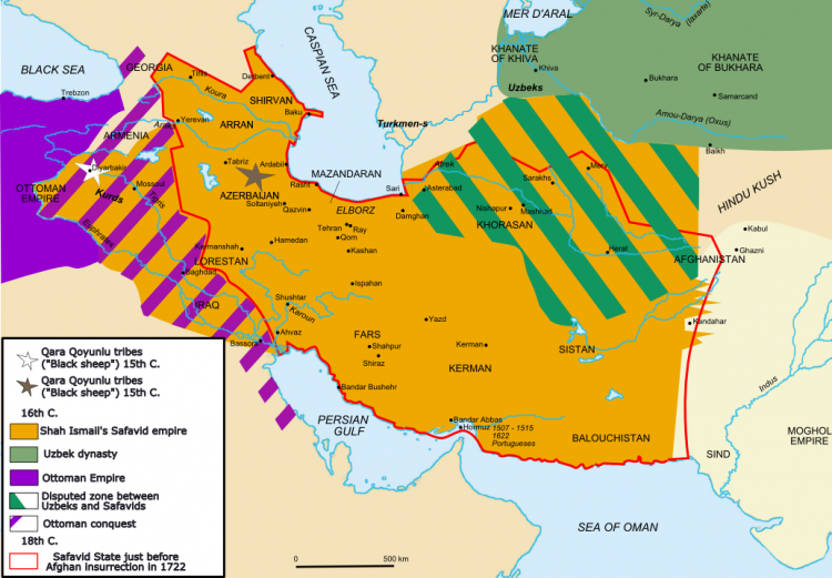 Map of Safavid empire by Fabienkhan
