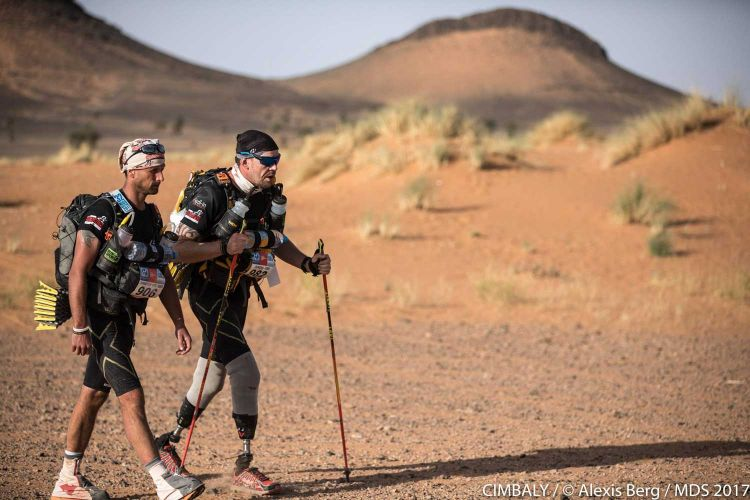 Double amputee completes Marathon Des Sables for Walking With The Wounded Credit CIMBALY Alexis Berg MDS 2017