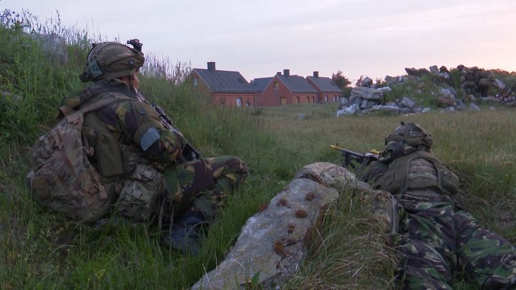 The assault by 45 Commando took place in west Denmark.