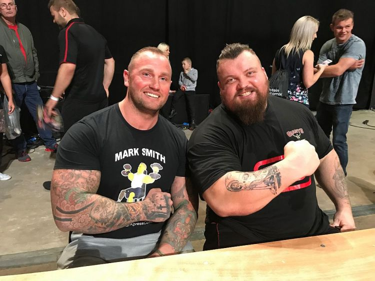 Mark and legendary strongman Eddie Hall