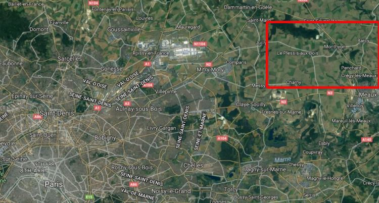 Marne Modern Day large scale of First 3D map edit