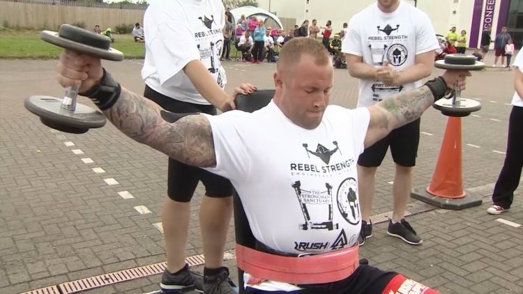 Britain's Strongest Disabled Man Shows Us What He Can Do