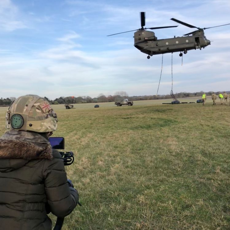 Media And The Military Camera Operator Chinook Field
