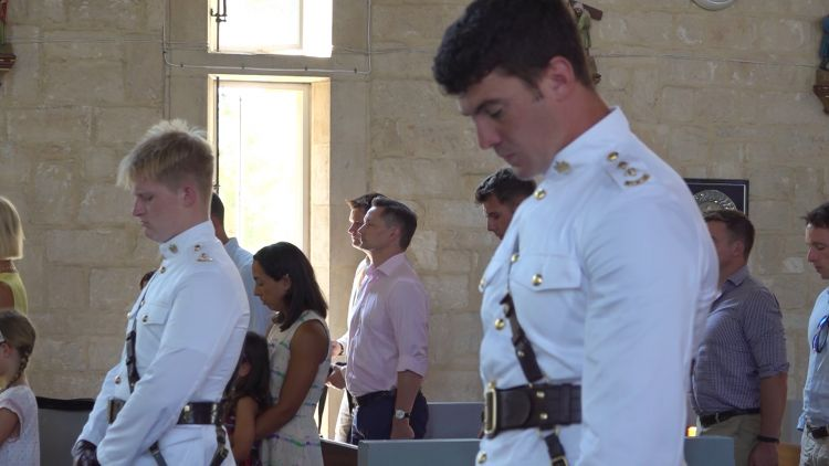 Members of 2 Mercian attend church service in Cyprus 060720 CREDIT BFBS.jpg