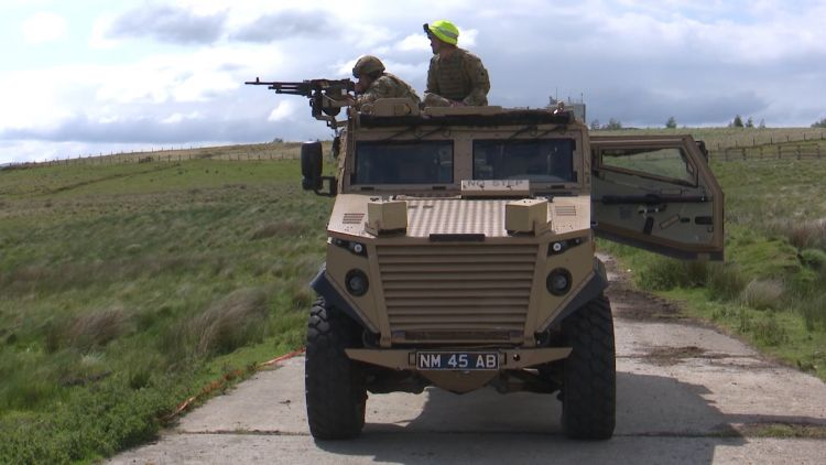 Members of 2 Scots on military vehicle train in Cumbria ahead of deployment 150620 CREDIT BFBS.jpg