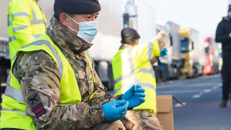 Members of British military help with Op Rose haulier testing DATE UNKNOWN used on 120121 CREDIT MOD.jpg