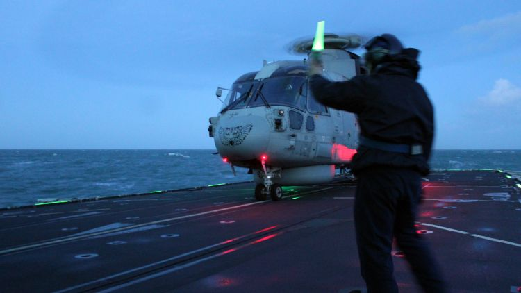 Merlin helicopter launched at dusk to shadow Russian vessels in Channel 030220 CREDIT Royal Navy.jpg