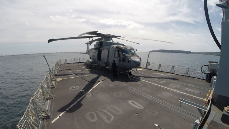 Merlin MK 2 on HMS Northumberland.