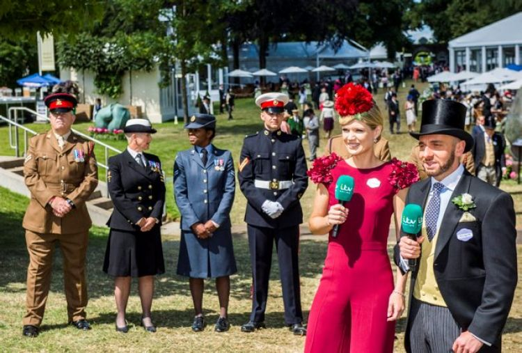 British military uniforms at Ascot racecourse