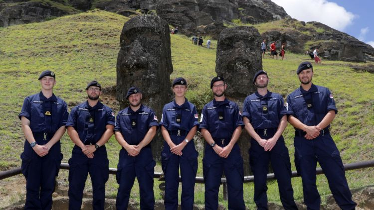 Montrose crew at Easter Island