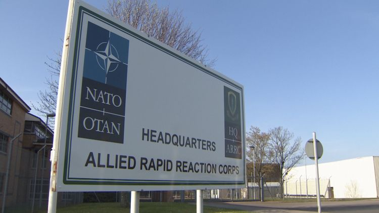 NATO's Allied Rapid Reaction Corps HQ in Gloucestershire.