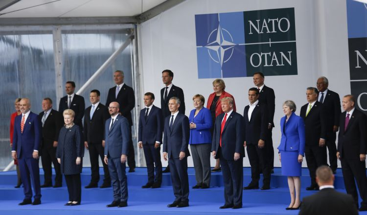 NATO family photo Brussels 110718 PA IMAGES