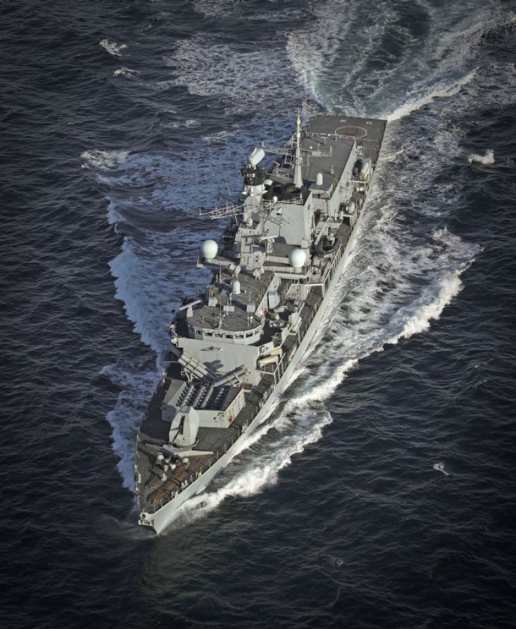 Joint Warrior Type 23 frigate HMS Montrose