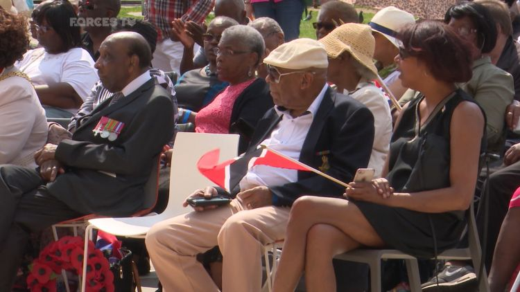 commemorative ceremony was held to honour the African and Caribbean soldiers