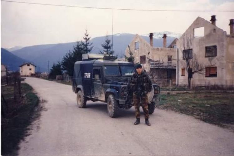 Neil Marshall in Bosnia