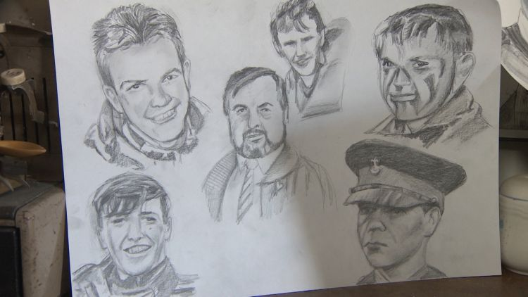 Never Gone portraits of fallen soldiers from Op Banner 2 Credit BFBS 140819