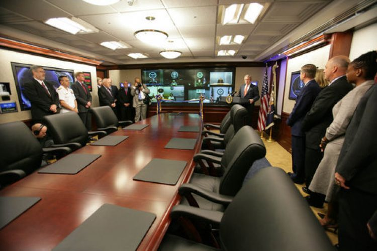Newly-renovated White House Situation Room, 2007