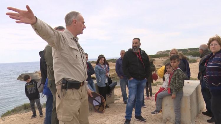 British archaeologists and locals explore Roman ruins at RAF Akrotiri in Cyprus