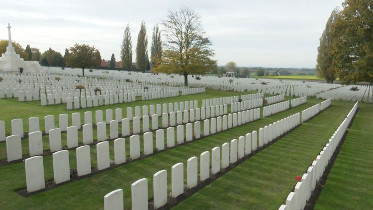 Tyne Cot Cemetery near Ypres in Belgium