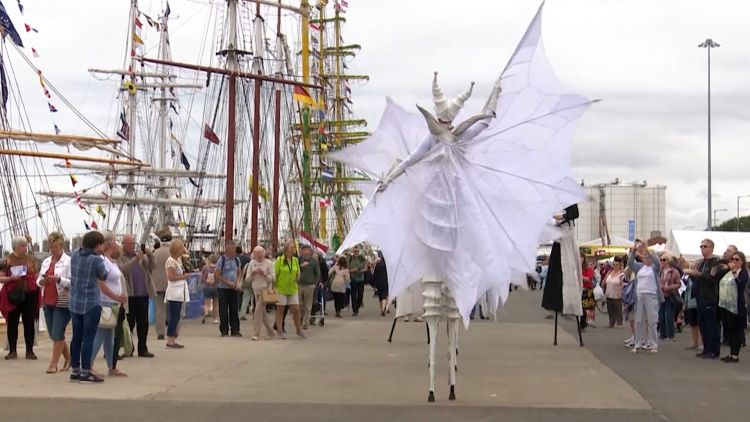 Performers at Tall Ships Race in Sunderland