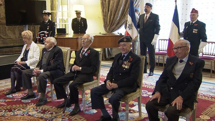 British WW2 veterans receive France's highest military medal