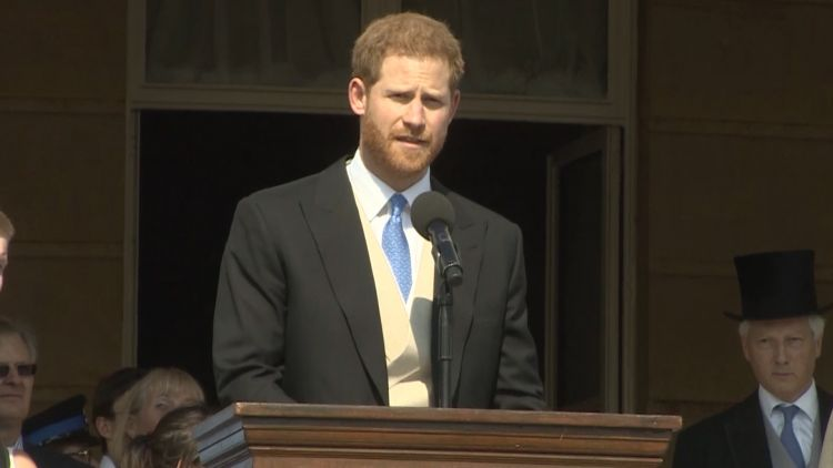 Harry speaking at the Prince of Wales' 70th Birthday Patronage Celebration
