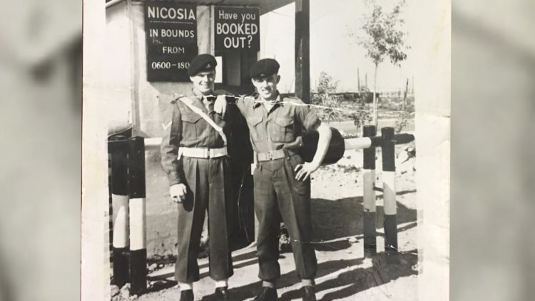 Brian House with colleague serving in Cyprus
