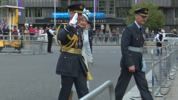 Air Chief Marshall Sir Stephen Hillier at Battle of Britain service