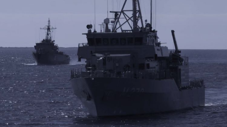 HMS Enterprise and NATO Mine Countermeasures Task Force